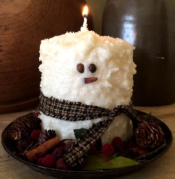 Medium Snowman Pillar Candle