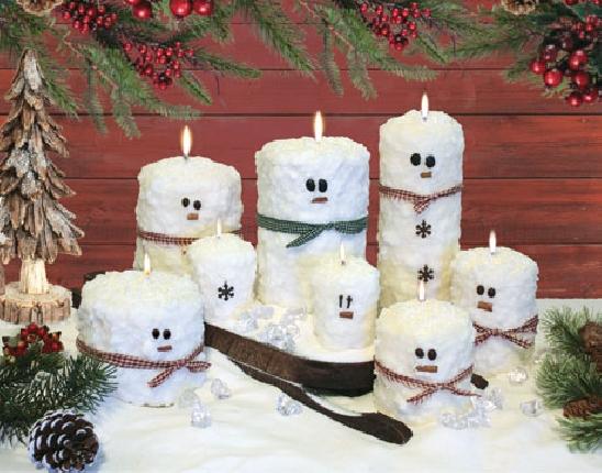 Snowman Pillars - Pick your Scent!